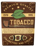 Tin Sign Kitchen Tobacco Pipe
