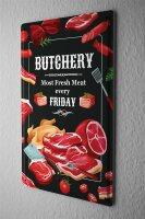 Tin Sign Kitchen Butchery Meat