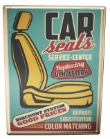 Tin Sign Vintage Car Car seats