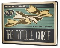 Tin Sign Kitchen Noodles Tagliatelle