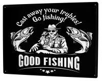 Tin Sign Angler Home fishing Sport Fishing Deep Sea