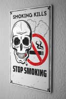 Tin Sign Tobacco Smoking prohibited
