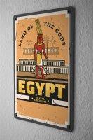 Tin Sign Nile Cairo Egypt Land of the Gods Africa Art