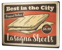 Tin Sign Kitchen Lasagne Pasta