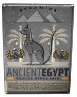 Tin Sign Egyptian Pyramid Egypt