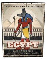 Tin Sign Egyptian Egypt