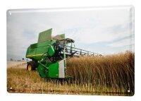 Tin Sign XXL Nostalgic Tractor Ravtive combine harvester