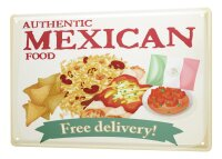 Tin Sign XXL Kitchen Mexican food