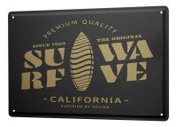 Tin Sign XXL City California Surf