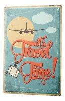 Tin Sign XXL Nostalgic Space Travel Time