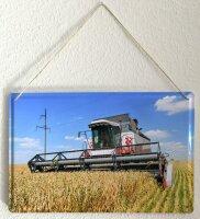 Tin Sign XXL Retro combine harvester