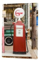 Tin Sign XXL Garage Gas pump