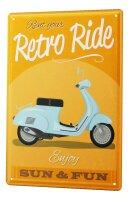 Tin Sign XXL Motorcycle Garage retro ride