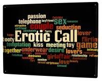 Blechschild XXL Sprüche erotischer Anruf
