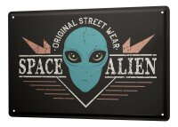 Tin Sign XXL Space Star Moon space alien
