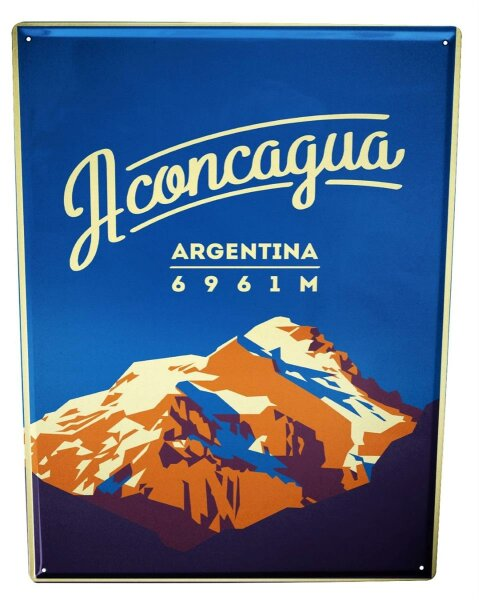 Tin Sign XXL Holiday Travel Agency Aconcagua Argentina