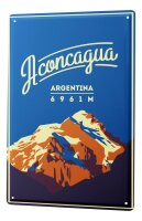 Tin Sign XXL Holiday Travel Agency Aconcagua Argentina