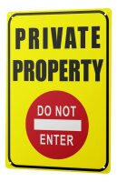 Tin Sign XXL Retro Art Private Property Do Not Enter