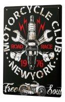Tin Sign XXL Motorcycle Garage Motorcycle Club New York
