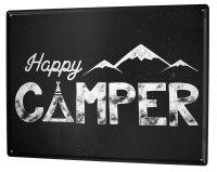 Tin Sign XXL Fun Happy Camper