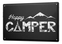 Tin Sign XXL Fun Happy Camper