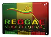 Tin Sign XXL Star Reggae Music Festival