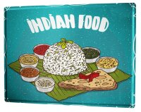 Tin Sign XXL Nostalgic Fun Indian Food