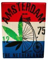Tin Sign XXL City Amsterdam Netherlands