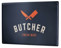 Tin Sign XXL Nostalgic Professional Butcher