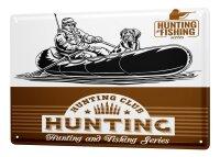 Tin Sign XXL Coastal Marine Hunting and fishing