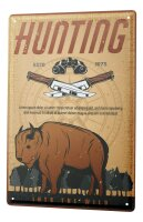 Tin Sign XXL Retro Buffalo Hunt
