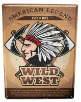 Tin Sign XXL USA Native American Legend