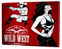 Tin Sign XXL USA Native Ms Wild West