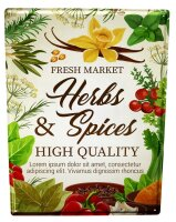 Tin Sign XXL Kitchen Herbs Spices