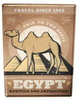 Tin Sign XXL Adventurer Egypt Camel