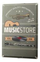 Tin Sign XXL Kitchen Musicshop Guitarre Record