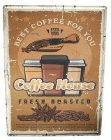 Tin Sign XXL Coffee Cafe Bar Coffee House Bean
