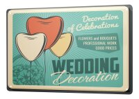 Tin Sign XXL Marriage Happiness Wedding Decoration Balloon