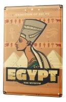 Tin Sign XXL Ancient Egypt Egypt Pyramid Desert Vintage