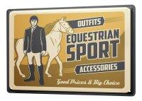 Tin Sign XXL Sports Riding Horse Equipment