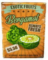 Tin Sign XXL Kitchen Bergamot Fruit