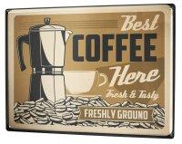 Tin Sign XXL Coffee Cafe Bar coffee maker bean