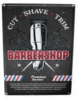 Tin Sign XXL Nostalgic Professional Barber Shop