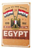 Tin Sign XXL World Trip Egypt flag