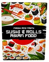 Tin Sign XXL Kitchen Sushi