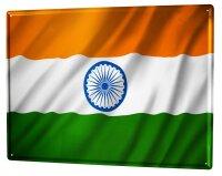 Tin Sign XXL Holiday Travel Agency Flag India