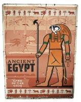 Tin Sign XXL Pharaoh Sun God Egypt Sphinx Archaeology...