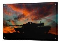 Tin Sign XXL Retro Tanks