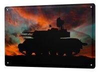 Tin Sign XXL Retro tank