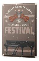 Tin Sign XXL Kitchen Music Festival Piano